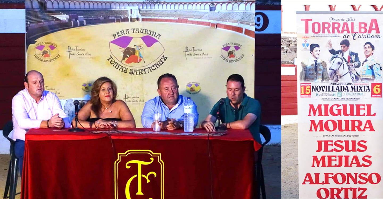 Los novilleros Jesús Mejías y Alfonso Ortiz, junto al rejoneador Miguel Moura forman el cartel taurino de Torralba de Calatrava