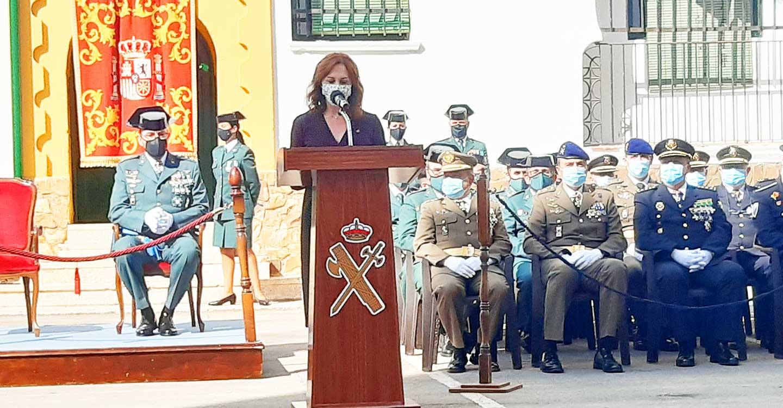 La subdelegada del Gobierno pone en valor la implicación de la Guardia Civil con los ciudadanos/as de la provincia
