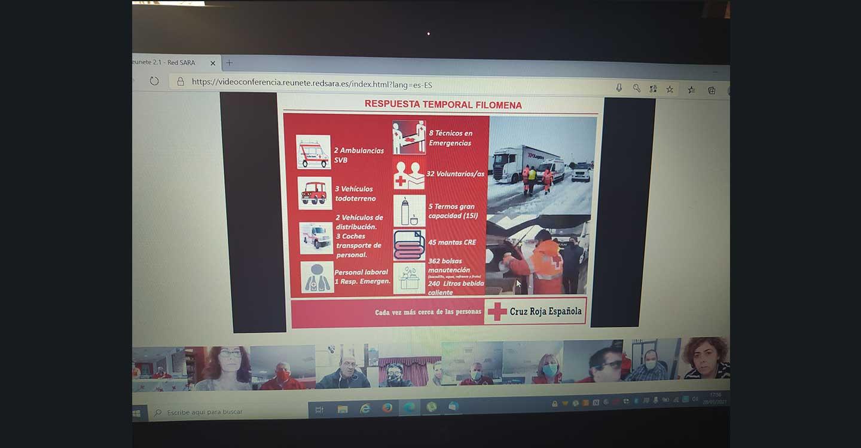 La subdelegada Herreros agradece a Cruz Roja su labor con los camioneros atrapados durante el temporal Filomena