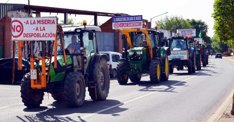 Más de 250 vehículos agrarios, en la Tractorada en defensa del agua  para regadío en Villarrubia de los Ojos y comarca