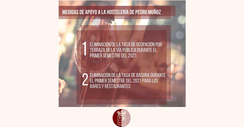 Medidas de apoyo a la hostelería en Pedro Muñoz