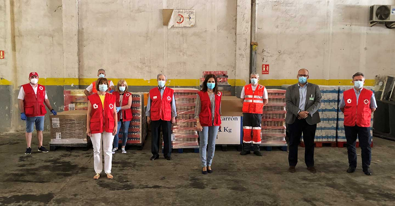 Mercadona entrega 10.000 kilos de alimentos de primera necesidad aentidades sociales como Cruz Roja Ciudad Real
