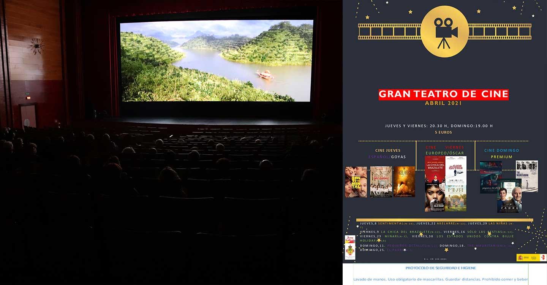El mes de abril llega al Gran Teatro cargado de cine