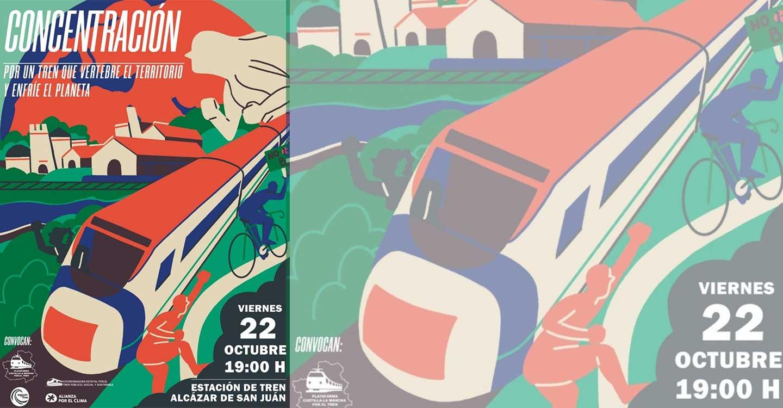 Izquierda Unida de Ciudad Real apoya las movilizaciones en defensa del ferrocarril y participará en la concentración del 22 de octubre en la estación de Alcazar de San Juan
