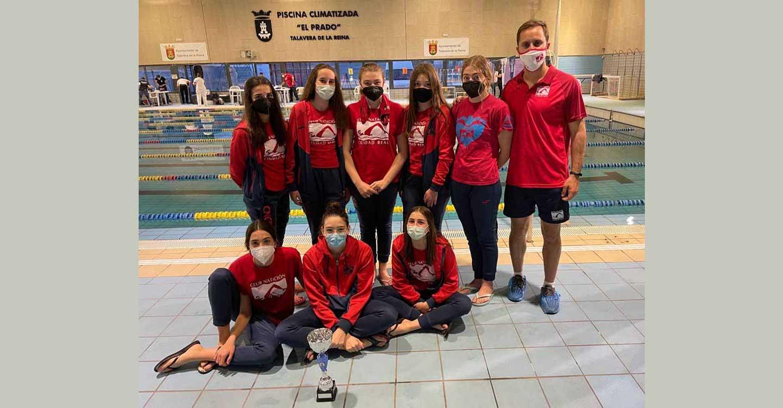 Las nadadoras infantiles del Club Natación Ciudad Real, sub-campeonas de Castilla-La Mancha