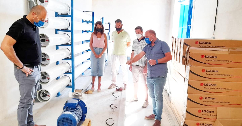 Avanzan a buen ritmo las obras de la estación por nanofiltración para el abastecimiento de agua potable de Villarta de San Juan