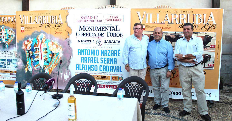 Nazaré, Serna y Cadaval, un cartel de figuras emergentes para la corrida de Feria de Villarrubia de los Ojos, el 7 de septiembre