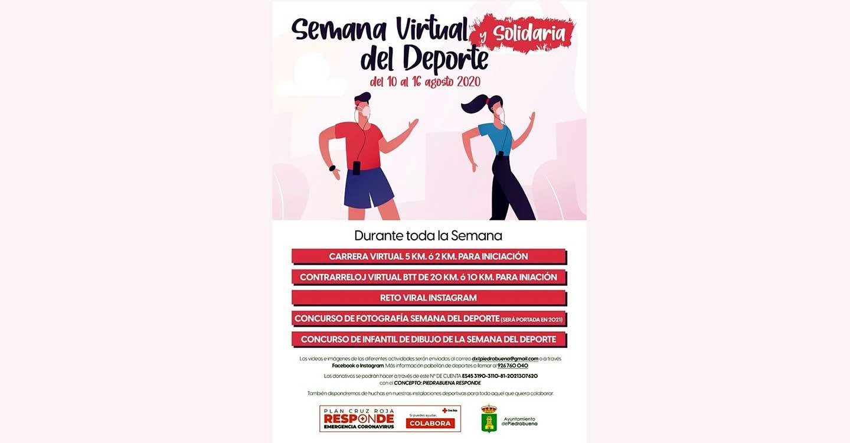 Novedosa Semana Virtual y Solidaria del Deporte en Piedrabuena del 10 al 16 de agosto, y para todos los públicos