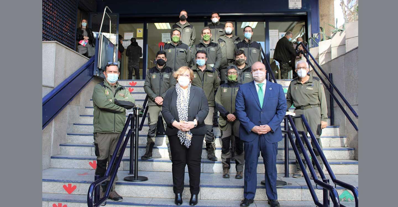 El Gobierno de Castilla-La Mancha da la bienvenida a los nueve agentes medioambientales que se incorporan al cuerpo en Ciudad Real