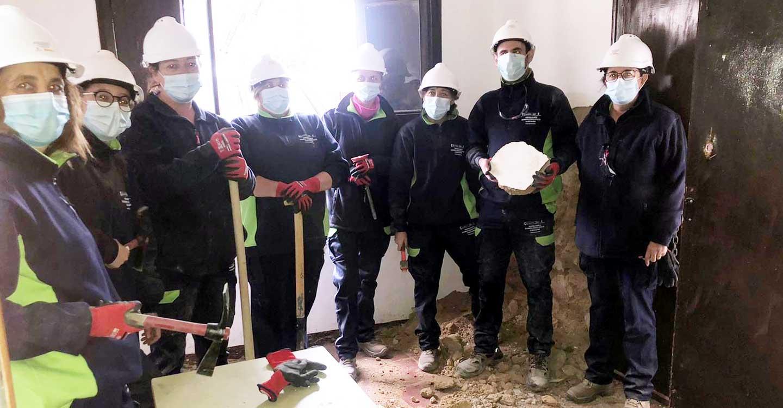 Ocho desempleados participan en un nuevo programa de formación y empleo en Villalba de Calatrava, promovido por el Ayuntamiento de Viso del Marqués