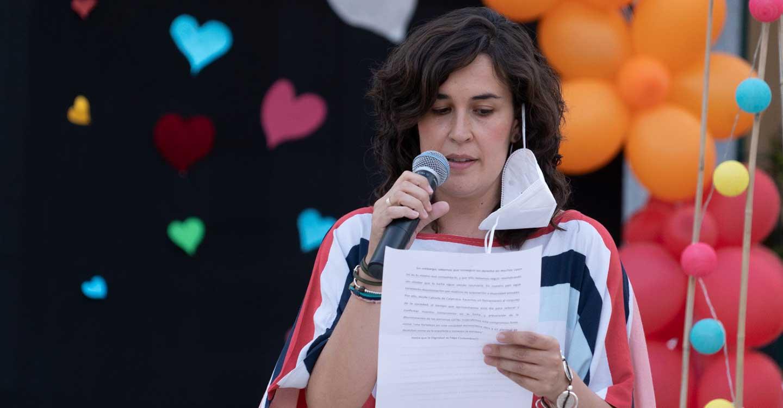 Orgullo en las calles calzadeñas durante la celebración de sus IV Jornadas sobre Diversidad Sexual y de Género