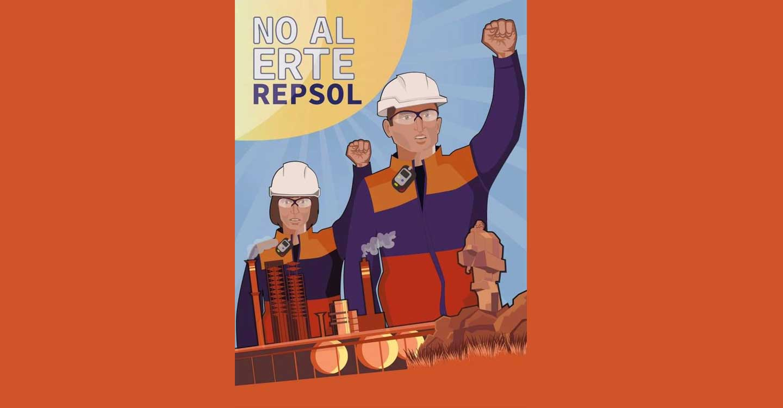 El PCE en Ciudad Real apoya a los trabajadores del complejo petroquímico de Repsol en Puertollano