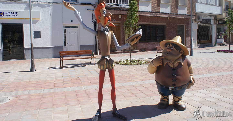 Personajes de El Quijote representativos en las distintas calles de algunos municipios de Castilla-La Mancha y otras regiones (3)