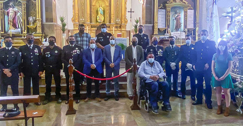 La Policía Local de Argamasilla de Calatrava celebró ayer el día de sus patronos, los Santos Ángeles Custodios