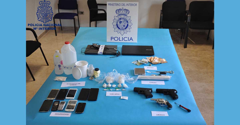 La Policía Nacional desarticula una organización criminal dedicada al tráfico de sustancias estupefacientes en la Provincia de Ciudad Real