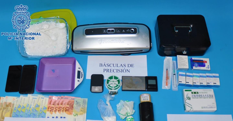 La Policía Nacional desarticula un punto de venta de cocaína y detiene a la persona que la distribuía