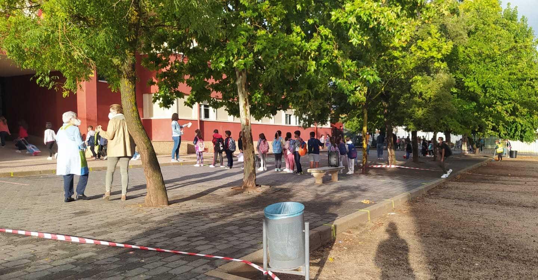 Normalidad y mantenimiento de medidas anticovid marcaron el inicio del curso escolar en Porzuna