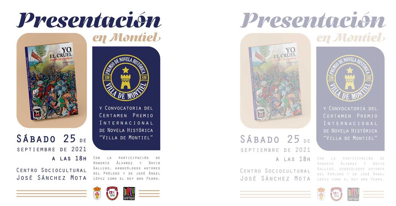 El próximo 25 de septiembre será presentado el Premio de Novela Histórica Villa de Montiel y el libro Yo, el Cruel  de Emilio Pacheco