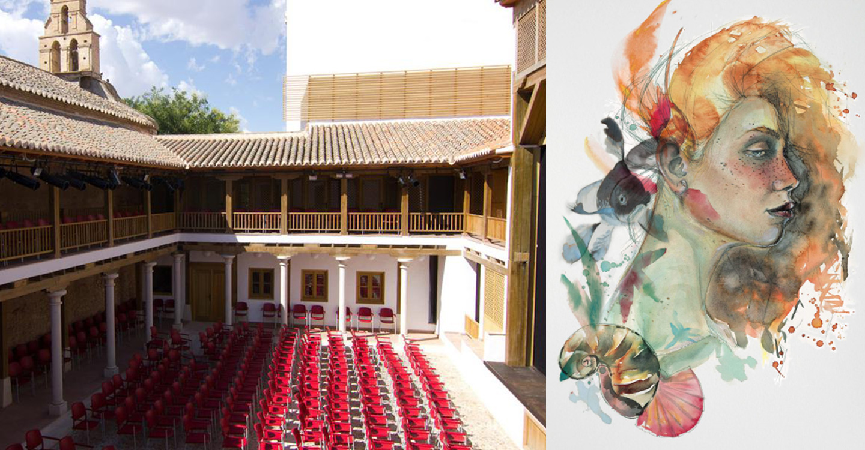 """""""Rostros de agua"""" armonizará con la belleza del patio de Comedias de Torralba de Calatrava."""