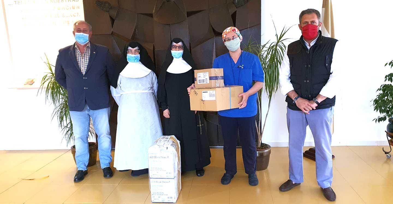 El Rotary Club de Ciudad Real inicia la ronda de entregas de material sanitario a residencias de ancianos de la provincia