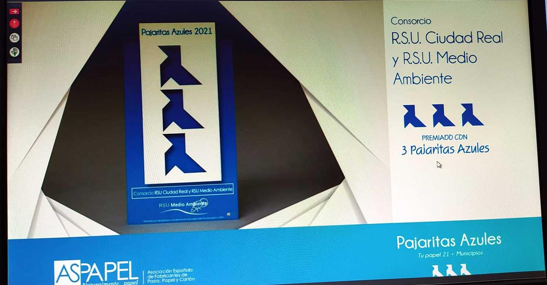 RSU Medio Ambiente, uno de los dos únicos de Castilla-La Mancha en recibir 3 Pajaritas Azules, junto al Ayuntamiento de Ciudad Real