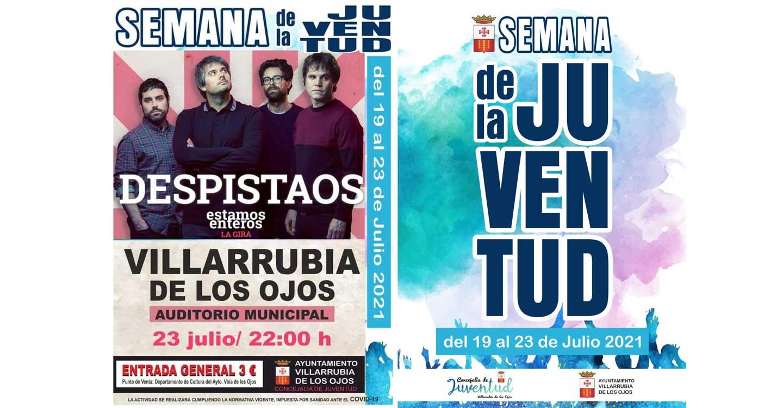 """El concierto de """"Despistaos"""" pondrá la guinda a la Semana de la Juventud de Villarrubia de los Ojos, del 19 al 23 de julio"""