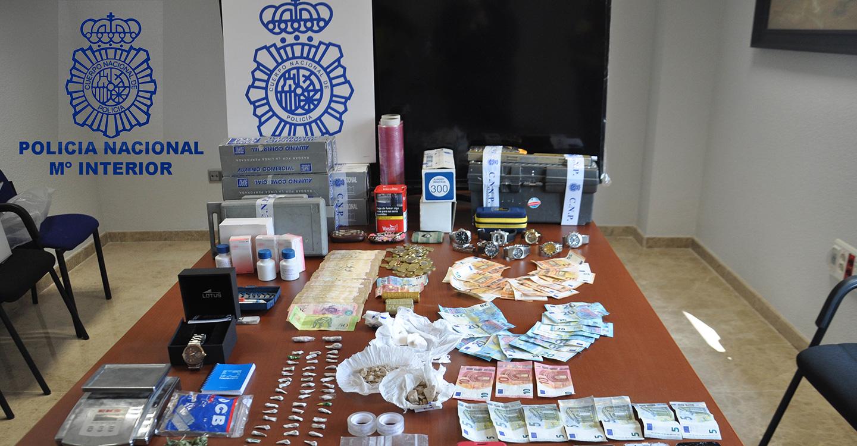 La Policía Nacional desmantela un punto de venta de drogas asentado en Valdepeñas