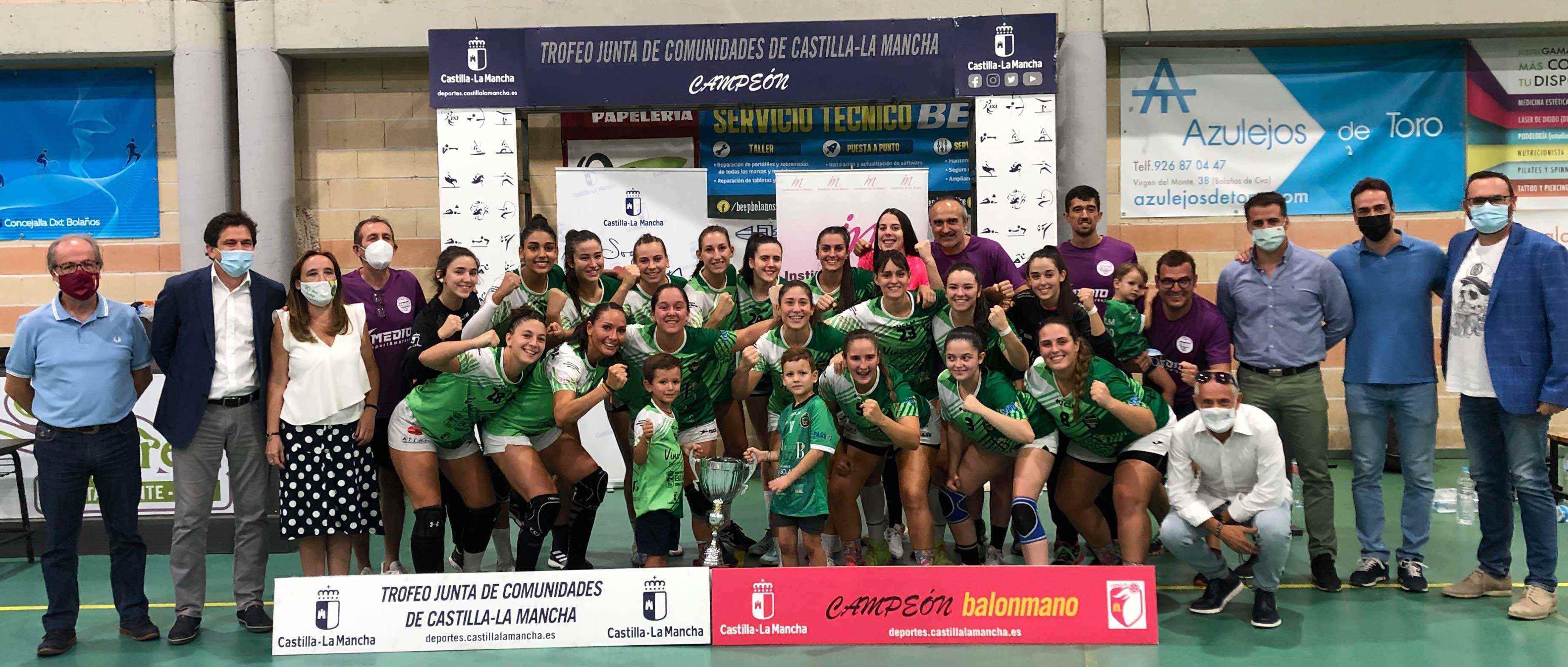 El Gobierno de Castilla-La Mancha felicita al BM Bolaños al proclamarse primer campeón del Trofeo Junta de Comunidades de Balonmano Femenino