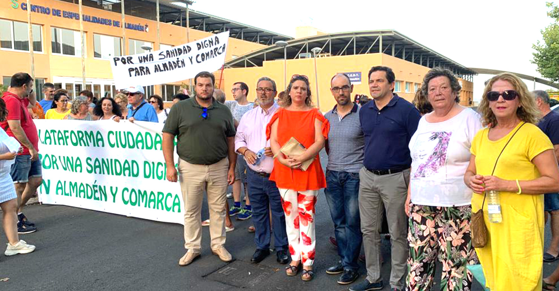 Valverde denuncia el abandono del consejero de Sanidad ante el desmantelamiento de los servicios sanitarios en la comarca de Almadén