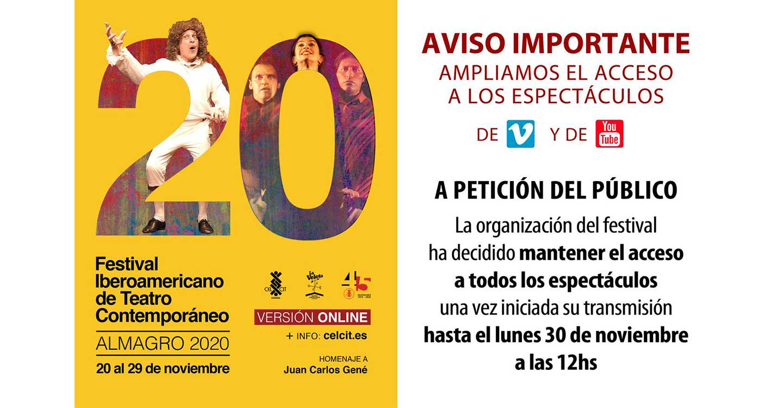 El 20º Festival Iberoamericano de Teatro Contemporáneo de Almagro encara su recta final con otra decena de propuestas atractivas