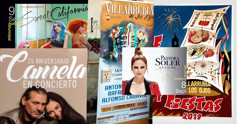 Villarrubia de los Ojos inaugurará el 7 de septiembre su Feria, con Pastora Soler, Camela y Sweet California como gran apuesta musical