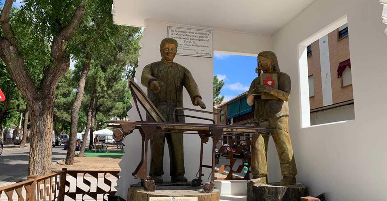 Villarrubia de los Ojos exhibe un monumento a los sanitarios y colectivos que han luchado contra el Covid-19