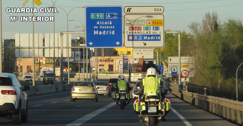 La Guardia Civil detiene a una persona implicada en un accidente de circulación que se dio a la fuga