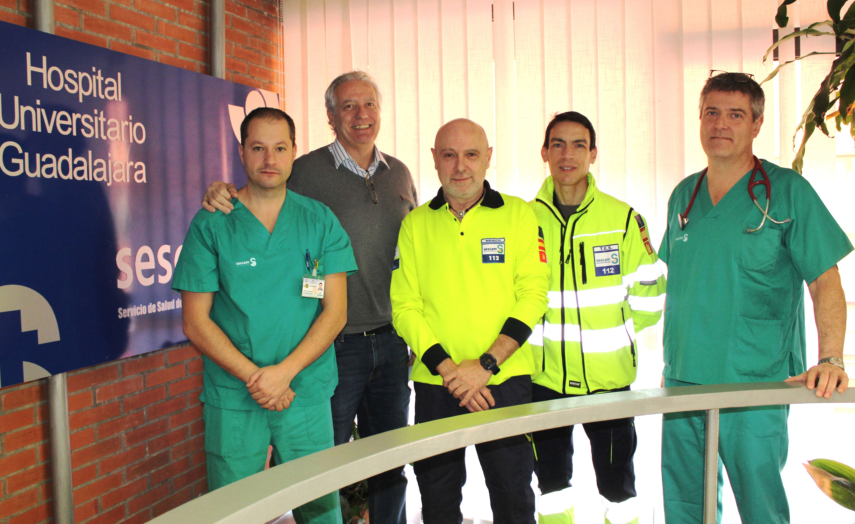 Profesionales de Guadalajara demuestran la importancia del aviso y atención precoz a los pacientes que sufren un infarto a través del 112