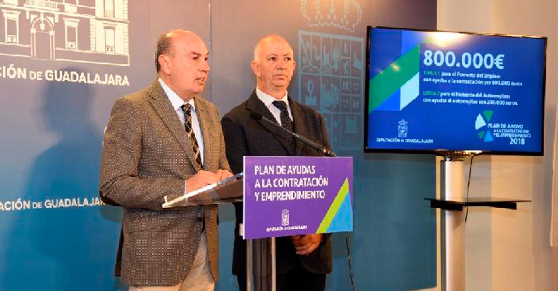 La Diputación pone en marcha un Plan de Apoyo a la Contratación y Emprendimiento con 800.000 euros para el fomento del empleo