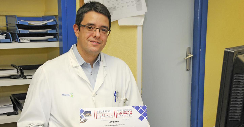 Un vídeo realizado por cirujanos vasculares del Hospital de Guadalajara, primer premio en el VI Simposio Internacional del Capítulo de Cirugía Endovascular