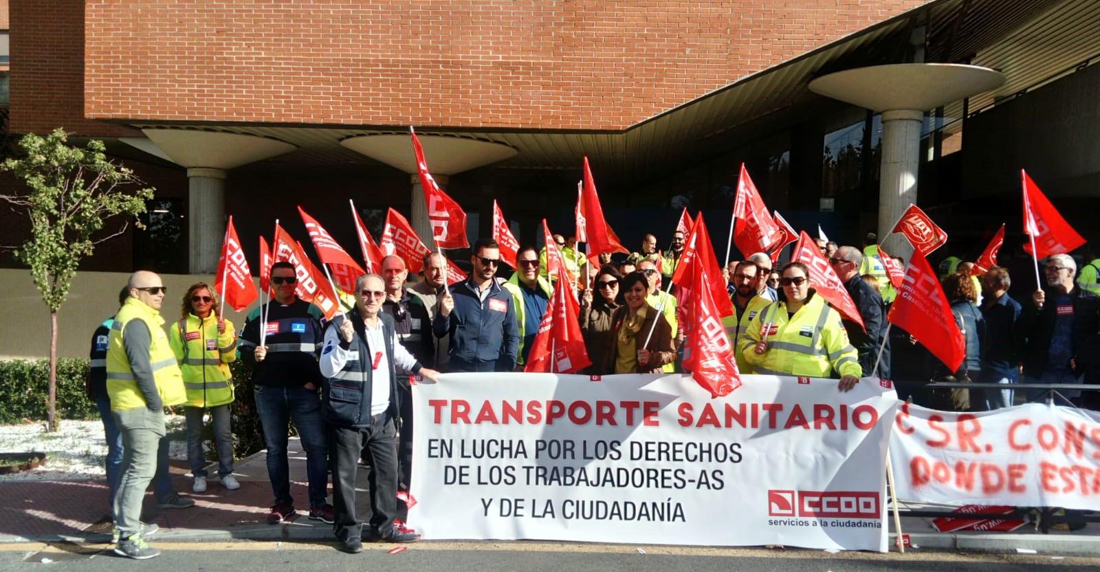 CCOO-FSC CLM, ante el anuncio de rescisión de los contratos del transporte sanitario a SSG en la región