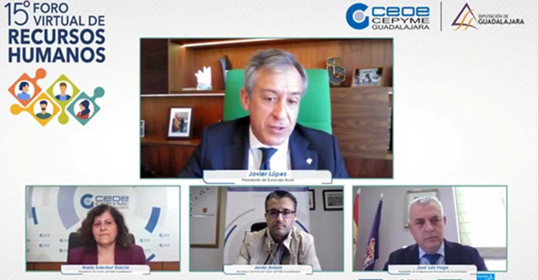 Eurocaja Rural respalda el XV Foro de RRHH de CEOE-CEPYME Guadalajara