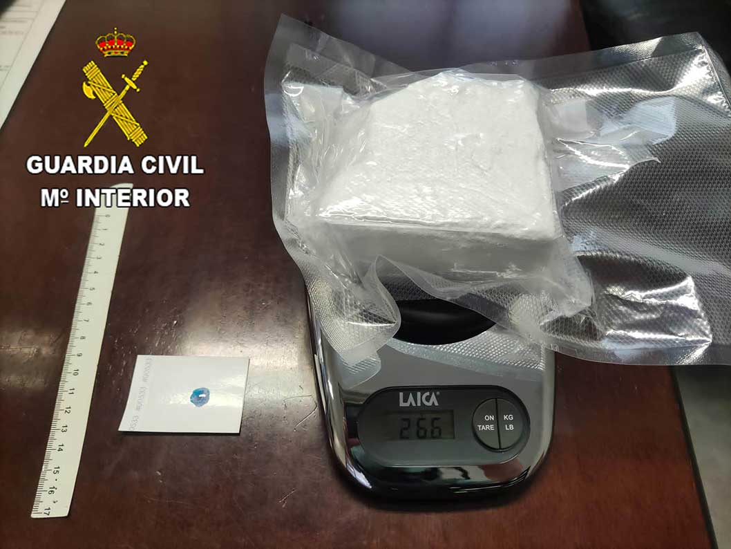 La Guardia Civil detiene a una persona por tráfico de drogas en la Autovía del Nordeste