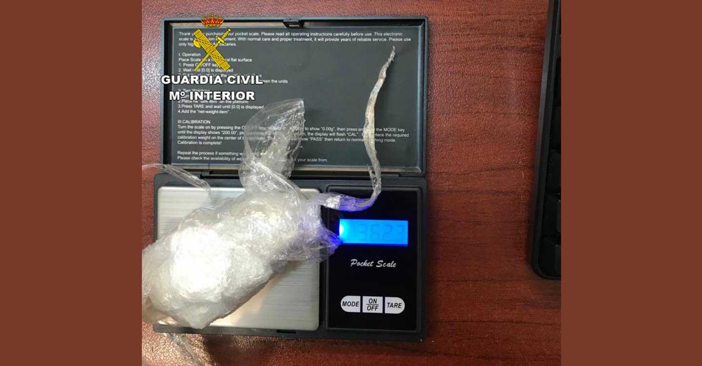 La Guardia Civil de Guadalajara detiene a una persona por trafico de drogas en Corduente