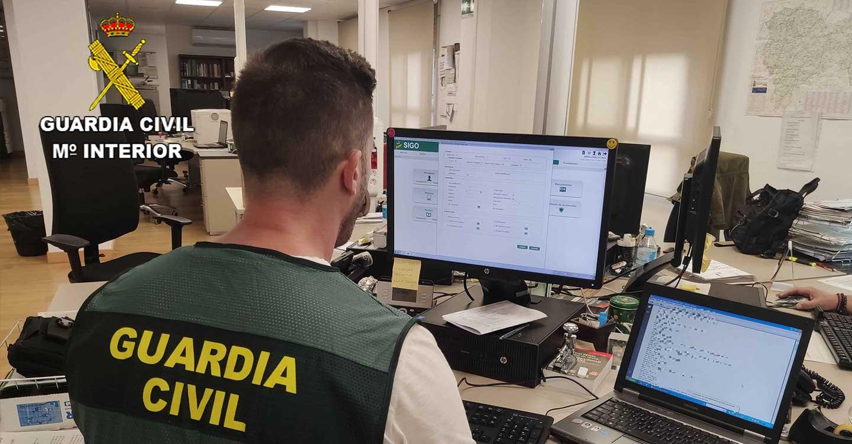 La Guardia Civil de Guadalajara investiga a una persona por simulación de delito en Sacedón