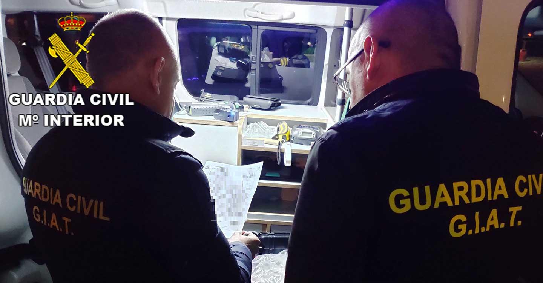 La Guardia Civil de Guadalajara investiga durante el año 2109 a 161 personas por carecer del permiso de conducción