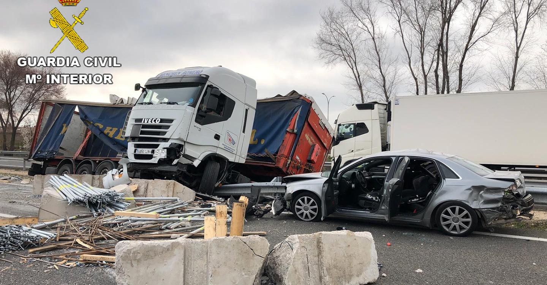 La Guardia Civil detiene al conductor de un camión que superó en más de ocho veces la tasa de alcoholemia permitida