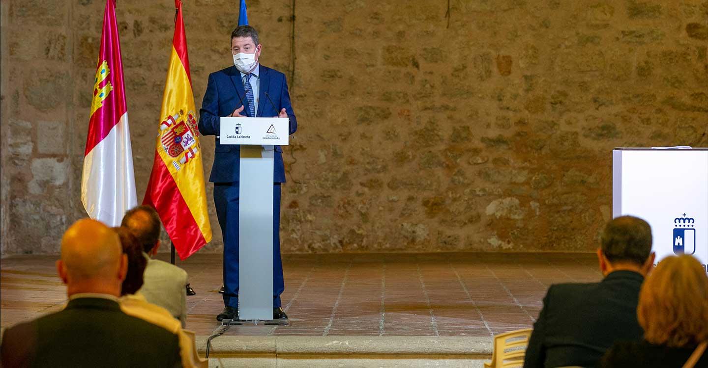 """El presidente García-Page ve en la permanencia de los GEO en Guadalajara una decisión """"política y de apuesta"""" del Estado por la región"""