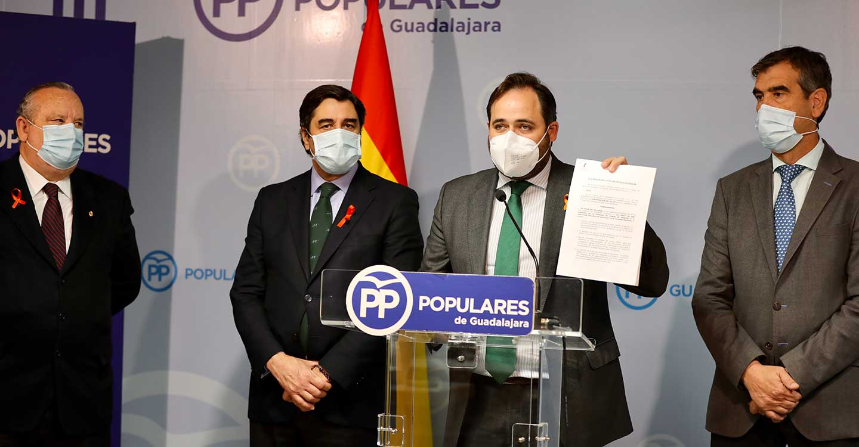 Núñez anuncia que el PP-CLM presentará una PNL en las Cortes para que los diputados regionales se posicionen en contra de la Ley Celaá