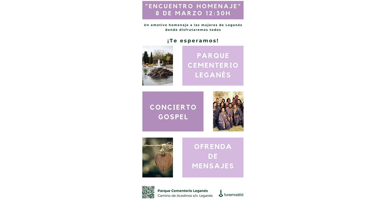 Homenaje a las mujeres de Leganés en el Parque Cementerio con motivo del 8 de marzo