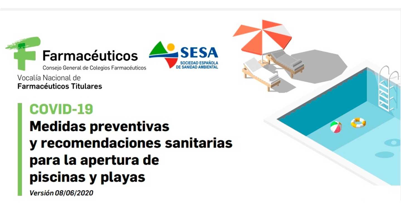 Los farmacéuticos de Salud Pública recuerdan las medidas preventivas para la apertura de playas y piscinas