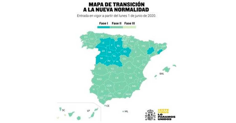 A partir del lunes, casi el 70% de la población española podrá retomar las actividades recogidas en la fase 2