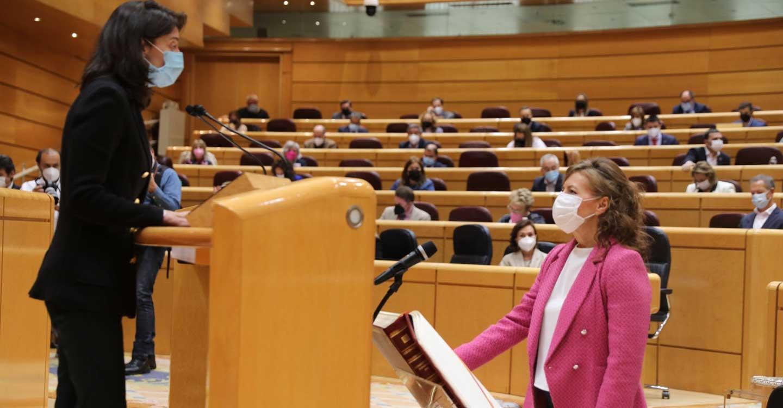 Aurelia Sánchez adquiere la condición plena de senadora