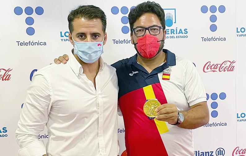 El Gobierno de Castilla-La Mancha da la bienvenida, en su regreso a España, a Alberto Fernández que consiguió la medalla de oro en las Olimpiadas de Tokio